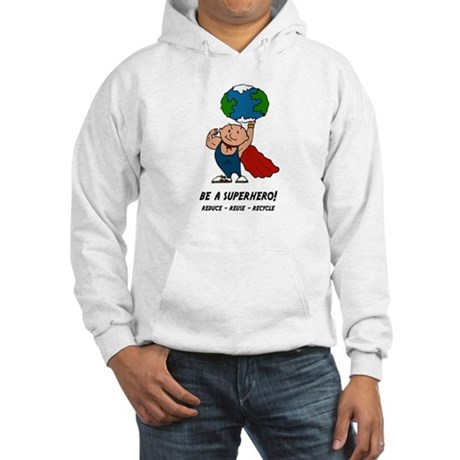 Earth Day Superhero Hooded Sweatshirt