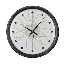Haywire (purple) Large Wall Clock