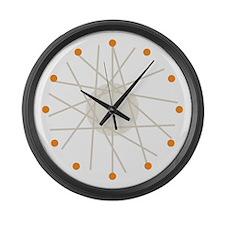 Haywire (orange) Large Wall Clock