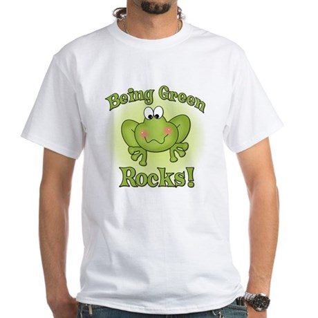 Being Green Rocks White T-Shirt