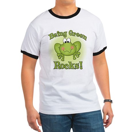 Being Green Rocks Ringer T