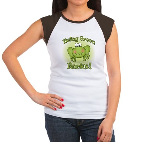 Being Green Rocks Women's Cap Sleeve T-Shirt