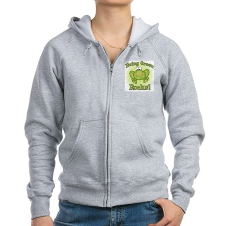 Being Green Rocks Women's Zip Hoodie