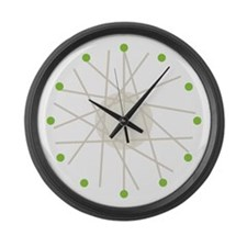 Haywire (green) Large Wall Clock