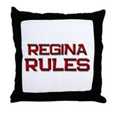 regina rules Throw Pillow