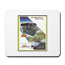 """WWII Allison Engines"" Mousepad"