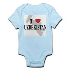 I Love Uzbekistan Infant Creeper
