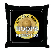 Hoops Serious - Throw Pillow