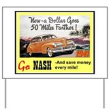 """1941 Nash Ad"" Yard Sign"