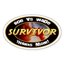 Roe vs. Wade Survivor Oval Sticker (10 pk)
