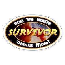 Roe vs. Wade Survivor Oval Decal