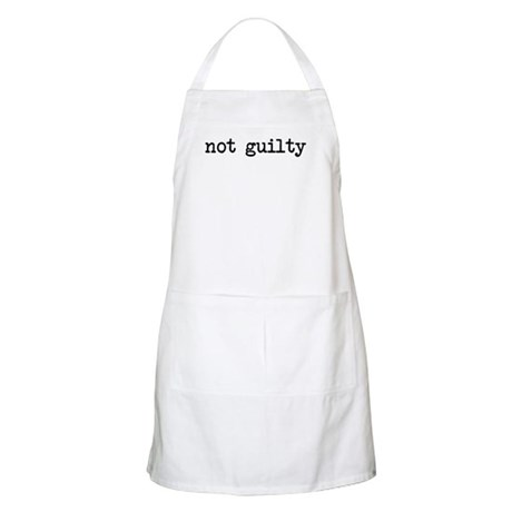 not guilty BBQ Apron