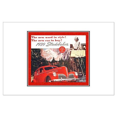 """1939 Studebaker Ad"" Large Poster"