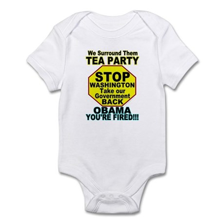 Tea Party Obama Fired Infant Bodysuit