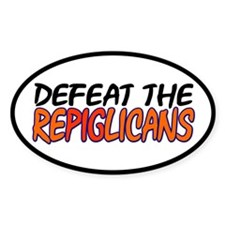 Defeat the Repiglicans Car Decal