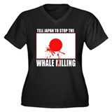 Japan Stop Whale Killing Women's Plus Size V-Neck
