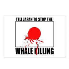 Japan Stop Whale Killing Postcards (Package of 8)