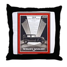 """1929 Willys-Knight Ad"" Throw Pillow"