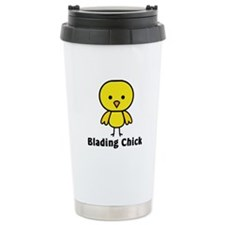 Blading Chick Ceramic Travel Mug