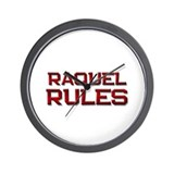 raquel rules Wall Clock