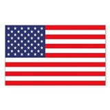 American Flag Rectangle  Aufkleber