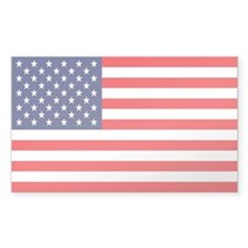 American Flag Rectangle Decal