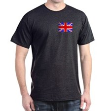 Union Jack / British Flag 6 Black T-Shirt