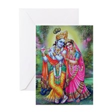 radha krishna Greeting Card