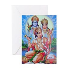 Ram Sita Hanuman Greeting Card