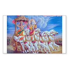 Krishna Arjuna Rectangle Decal