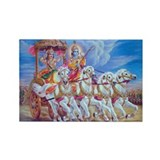 Krishna Arjuna Rectangle Magnet