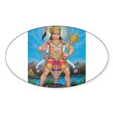 Jai Hanuman Oval Decal