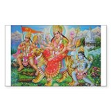 Durga Mata Rectangle Decal