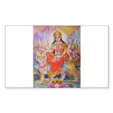 Durga mata ji Rectangle Decal