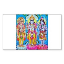Brahma Vishnu Shiva Rectangle Decal