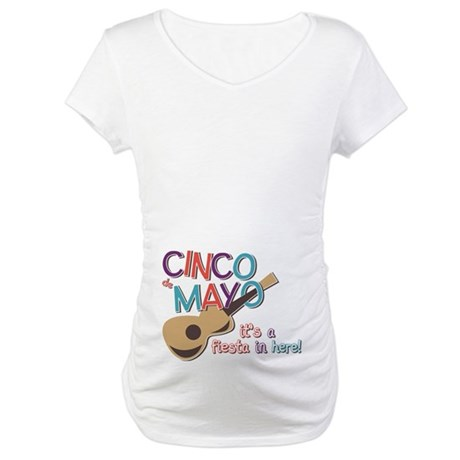 Cinco de Mayo Fiesta Maternity T-Shirt