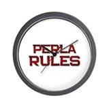 perla rules Wall Clock