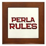 perla rules Framed Tile