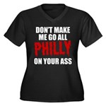 Philadelphia Baseball Women's Plus Size V-Neck Dar