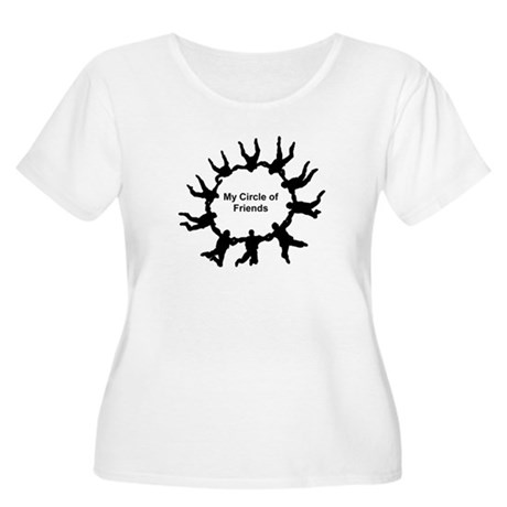 My Circle of Friends Women's Plus Size Scoop Neck