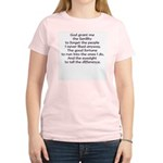 God grant me the Senility... Women's Pink T-Shirt