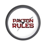 payton rules Wall Clock