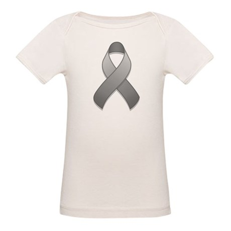 Gray Awareness Ribbon Organic Baby T-Shirt