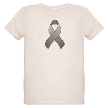 Gray Awareness Ribbon Organic Kids T-Shirt