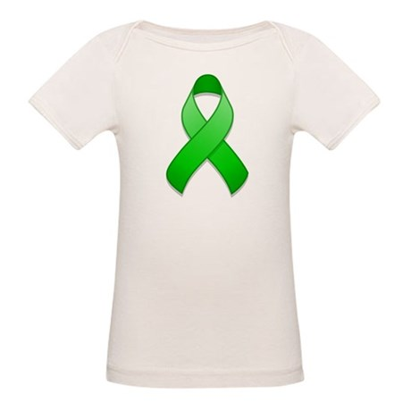 Green Awareness Ribbon Organic Baby T-Shirt