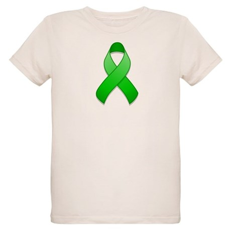 Green Awareness Ribbon Organic Kids T-Shirt
