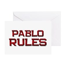 pablo rules Greeting Card