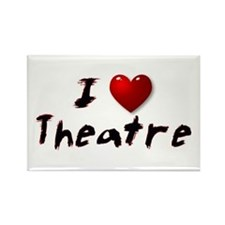 I (heart) Theatre Rectangle Magnet