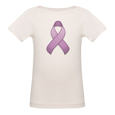Lavender Awareness Ribbon Organic Baby T-Shirt