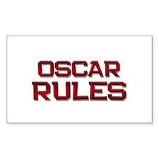 oscar rules Rectangle Decal